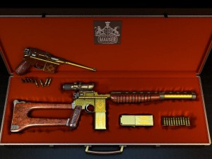 Mauser 1930 gun gold with gravy upgrate with case
