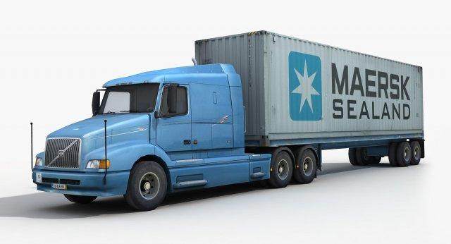 6eb85cbf10e Container Truck 1 3D Model in Truck 3DExport