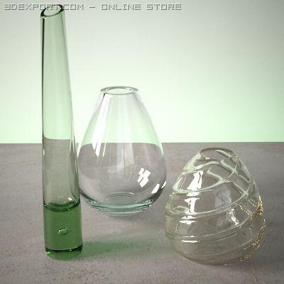 Vase Set 4 3D Model