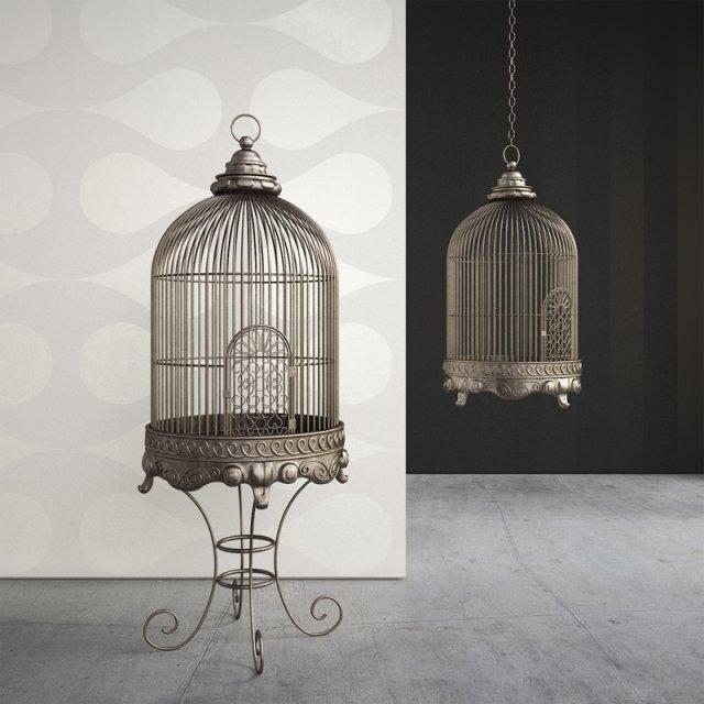 Ornate Antique Birdcage 3D Model
