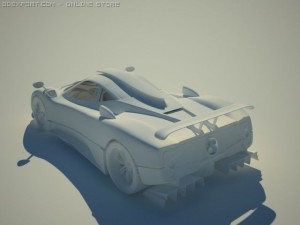 Pagani Zonda F Tuned 3D Model. Greenwan. Sport Cars