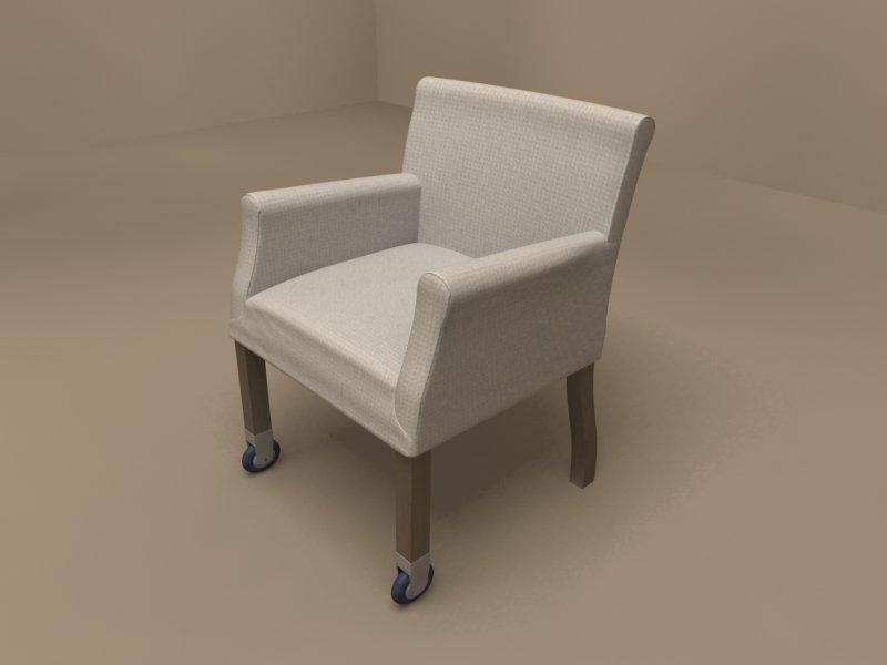 Pausa armchair by Flexform Modèle 3D in Chaise 3DExport