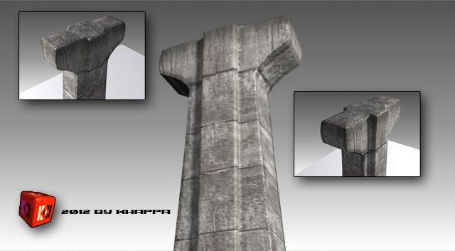 Concrete Big Column 3D Model in Miscellaneous 3DExport