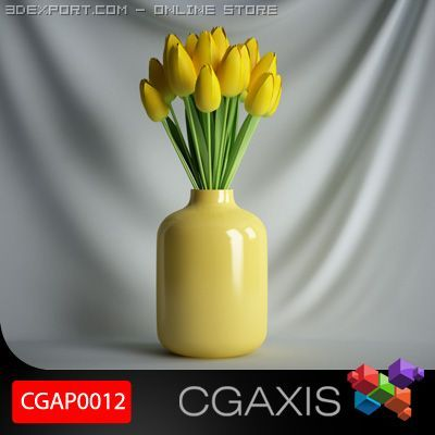 CGAXIS plant 12 3D Model