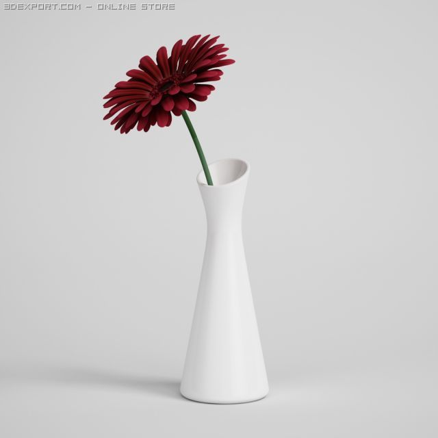 Flower in Vase CGAxis models 006 01 3D Model