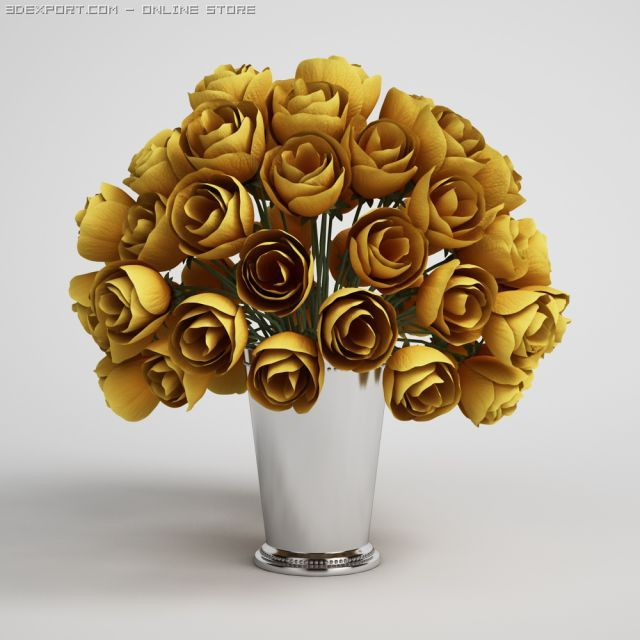 Flower Bouquet in Vase CGAxis models 006 15 3D Model