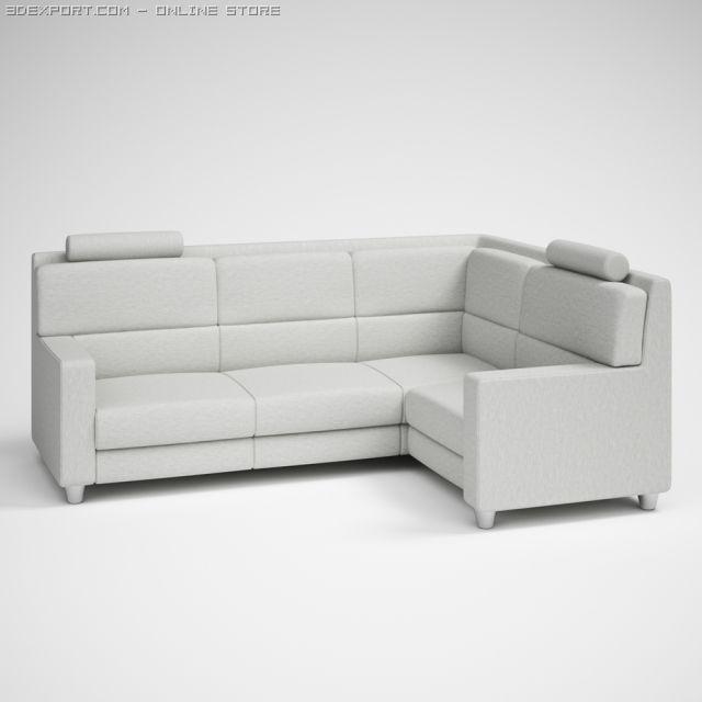 Modern Corner Sofa 26 3D Model