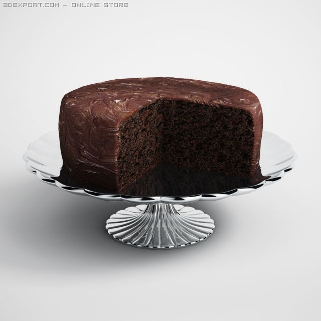 Chocolate Cake 12 3D Model