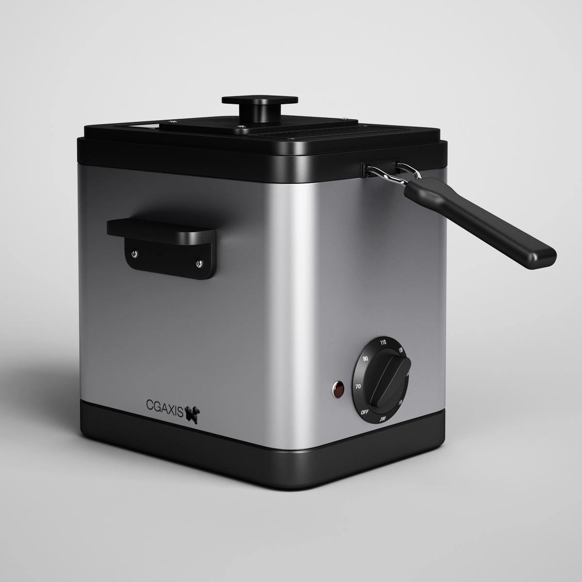 CGAxis Electric Deep Fryer 10 3D Model in Cookware Tools 3DExport
