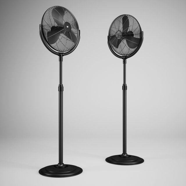 CGAxis Floor Standing Fan 01 3D Model
