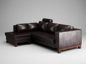 CGAxis Dark Leather Sofa 15