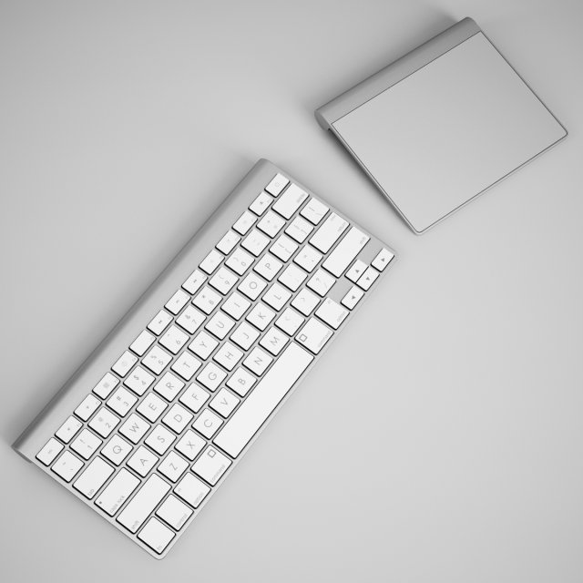 CGAxis Keyboard with Touchpad 3D Model