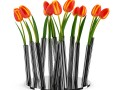 Tulips in Modern Pot