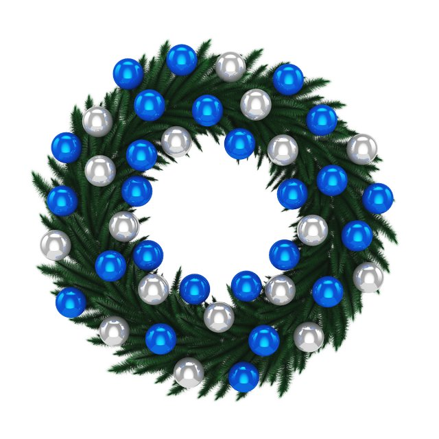 Christmas Wreath 1 3D Model