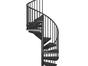 Black Narrow Spiral Stairs