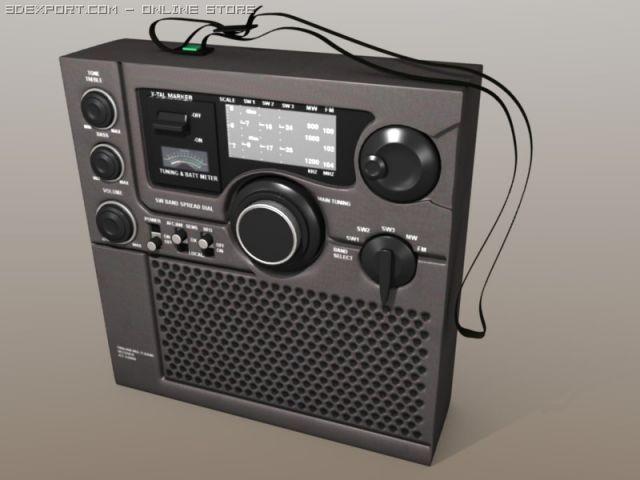Sony icf 5900w multi band receiver 3D Model