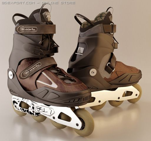 K2 Soul 7 Roller inline skate 3D Model