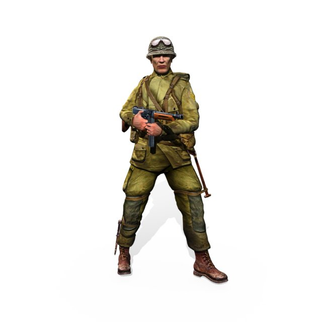 WWII American Soldier 3D Model