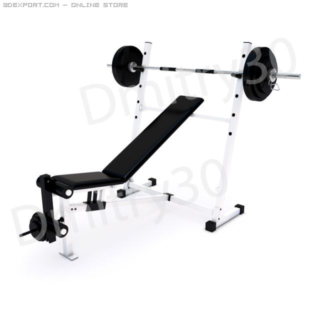Fitness Home Gym for regular sports training 3D Model in Sports Equipment  3DExport