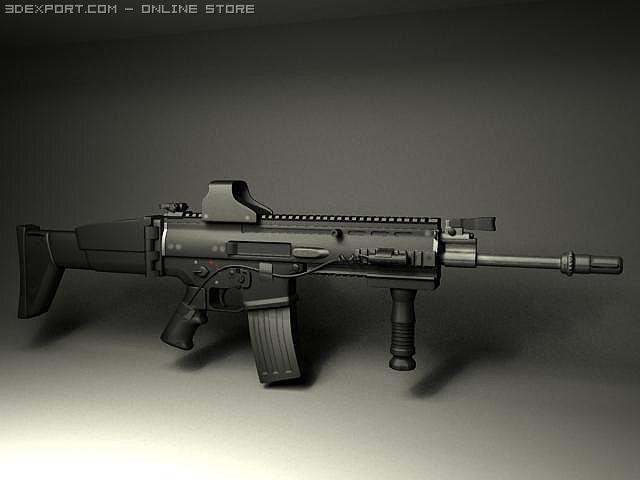 fn scar assault rifle free 3d model in accessories 3dexport