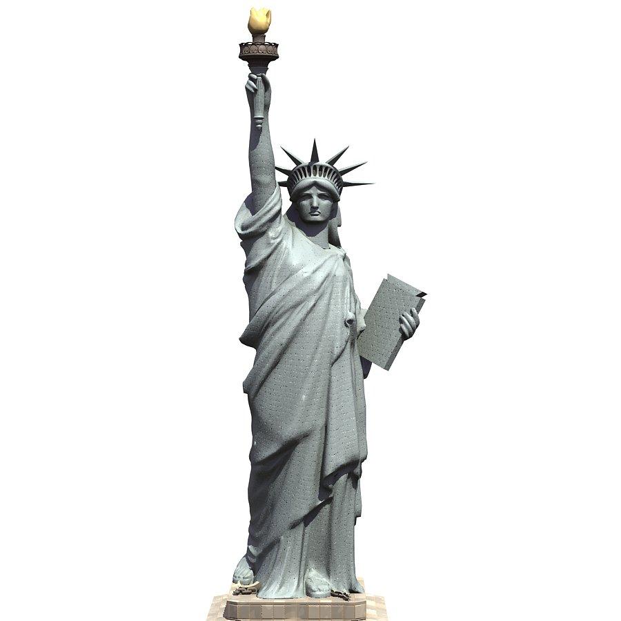 statue of liberty 3d model in sculpture 3dexport