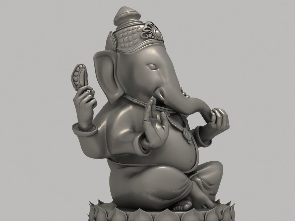 Ganesha Statue 3D Model in Sculpture 3DExport