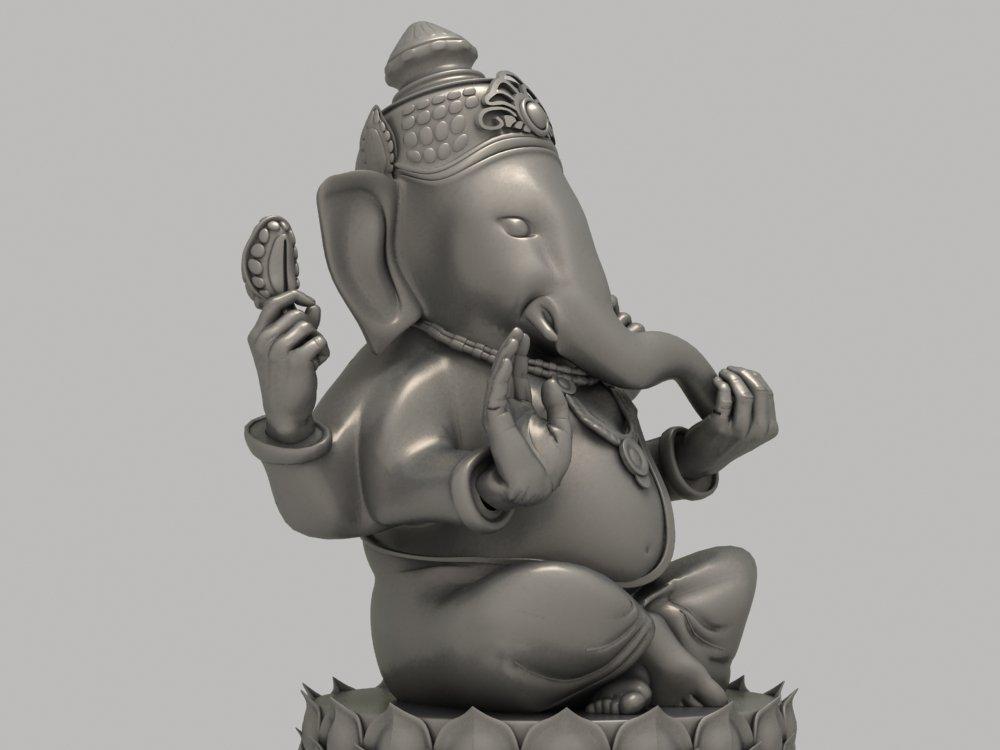 Ganesha Statue 3D Model in Sculpture 3DExport