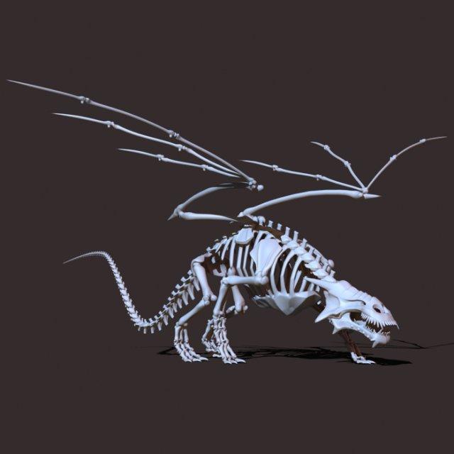 Dragon Skeleton 3D Model In Fantasy 3DExport