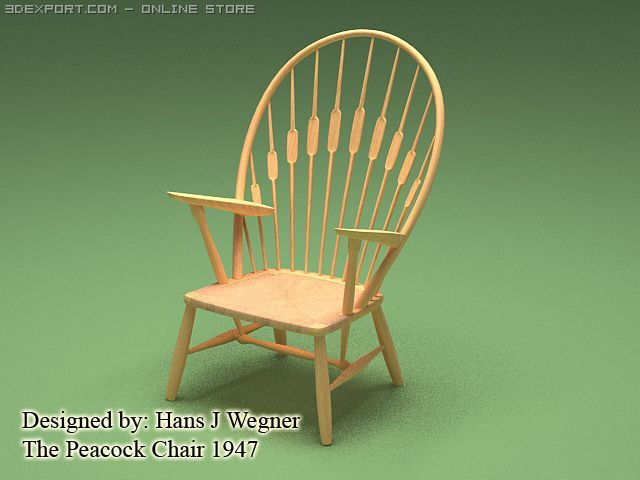 The peacock chair 1947 3D Model