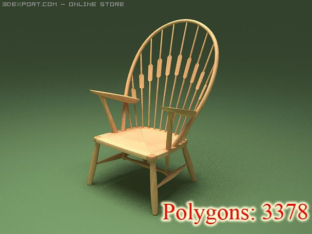The peacock chair 1947 low 3D Model