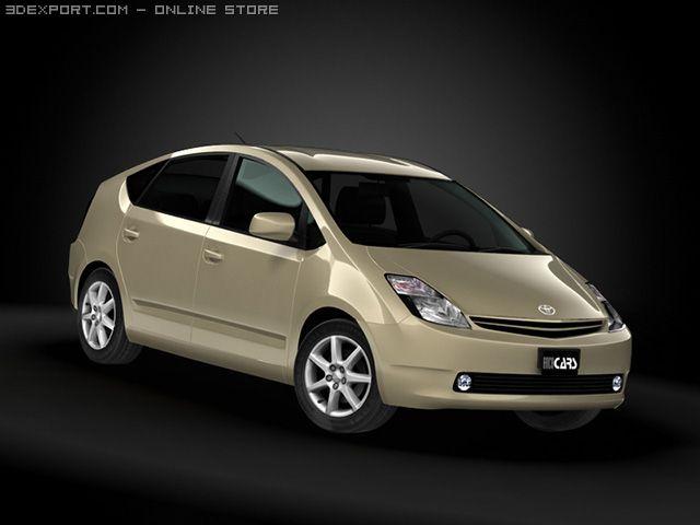 2009 Toyota Prius 3D Model in Sport Cars 3DExport