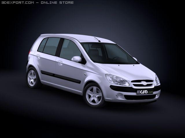2009 Hyundai Getz 3D Model