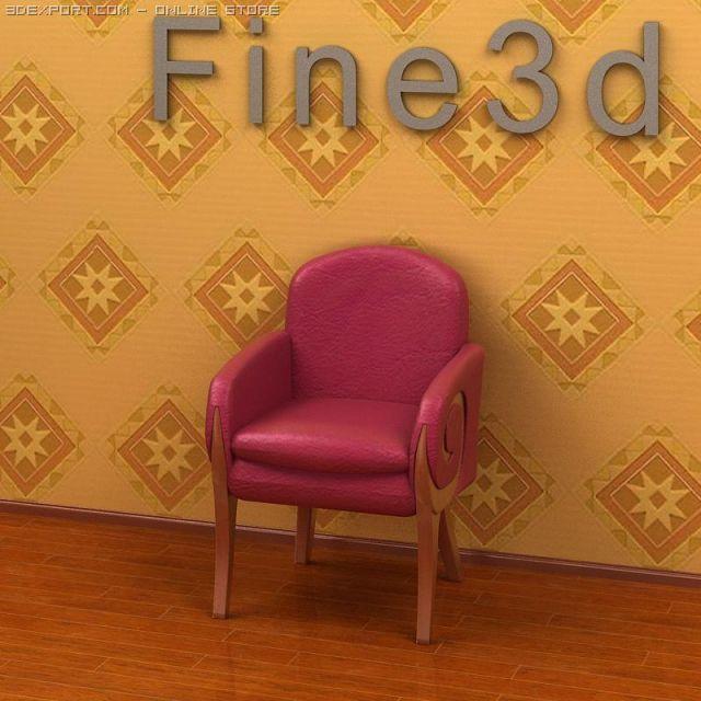 Antique09Chair019a 3D Model