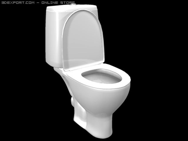 Toilet bowl free 3d model in bathroom 3dexport