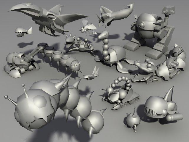Sonic the hedgehog badnicks 3D Model