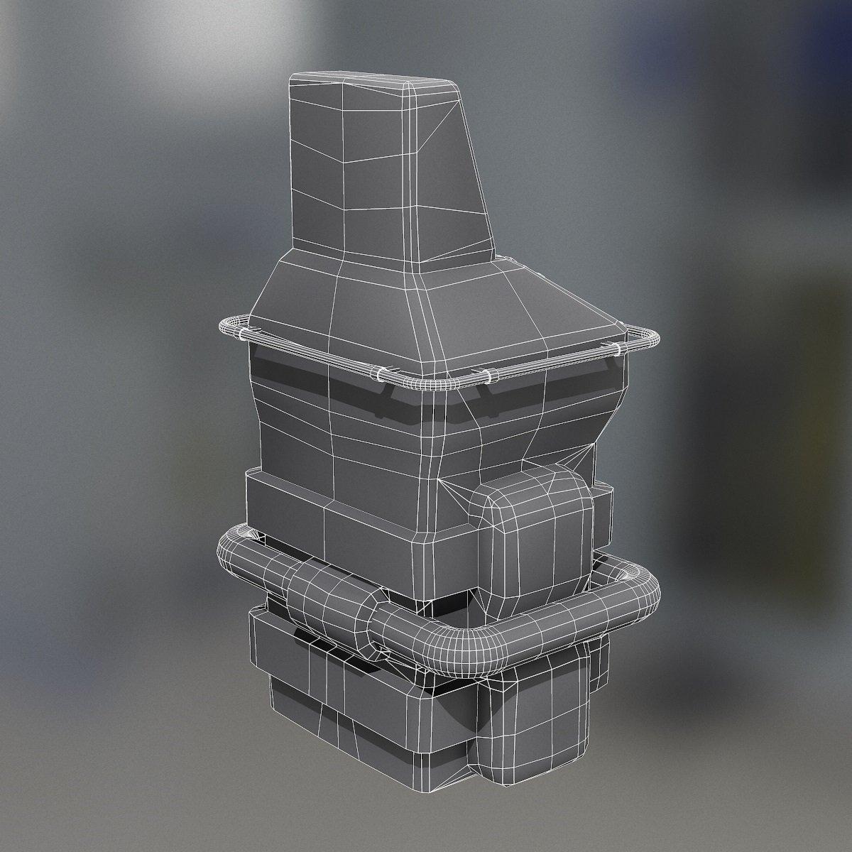 Retro Sci-Fi Console 3D Model in Other 3DExport