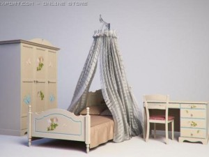 Furniture set for girl bedroom