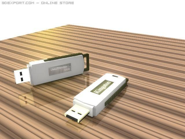 Kingston 2gb flash drive 3D Model