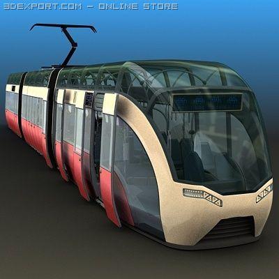 Concept Tram 3D Model
