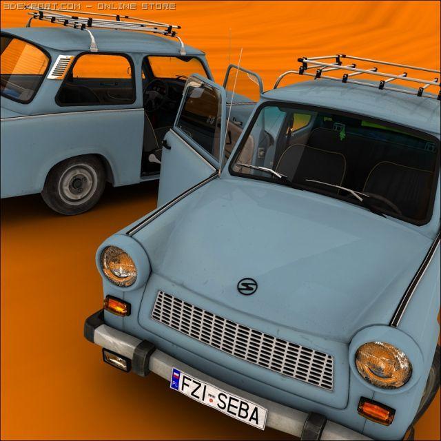 Trabant 601 3D Model