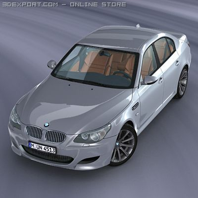 BMW M5 E60 Rigged 3D Model