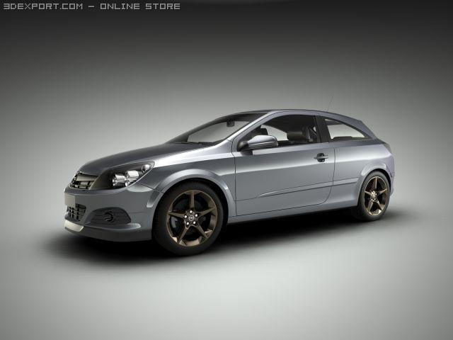 Opel Vauxhall Astra GTC 3D Model