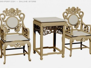 Chinese chairs and table