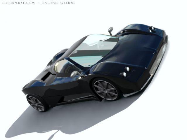 Pagani Zonda C12 3D Model