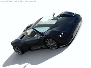 Pagani Zonda C12 3D Model. Djordje. Sport Cars