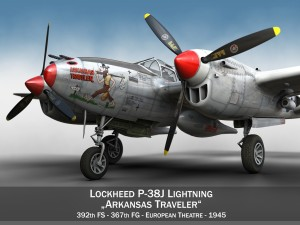 Lockheed P38J Lightning Arkansas Traveler