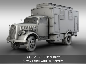Opel Blitz - 3t Truck with EC Koffer