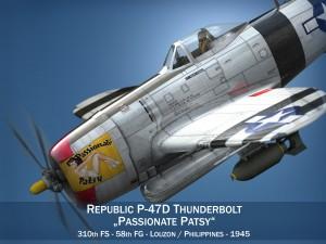 Republic P-47 Thunderbolt - Passionate Patsy