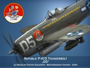 Republic P-47D Thunderbolt - Brazilian Air Force