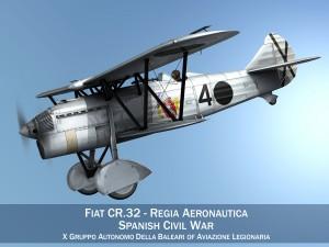 Fiat CR32 - Italy Air Force - Gruppo Baleari